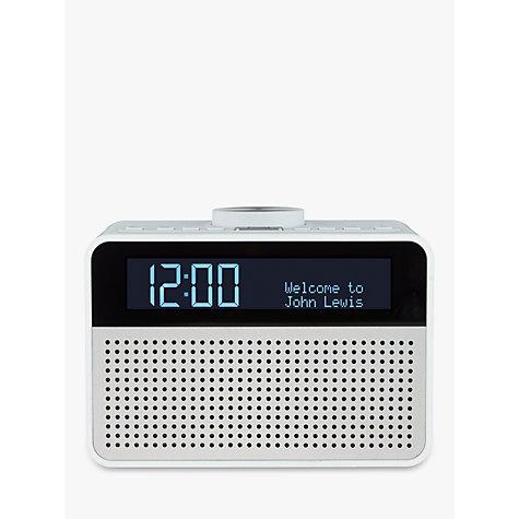 buy john lewis astro dab fm digital clock radio with alarm lcd display john lewis. Black Bedroom Furniture Sets. Home Design Ideas