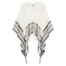 Buy Warehouse Textured Border Cape, Cream Online at johnlewis.com
