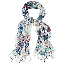 Buy White Stuff Squeegie Print Scarf, Multi Online at johnlewis.com