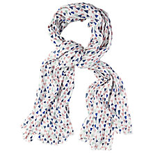 Buy White Stuff Hand Drawn Heart Scarf, White Online at johnlewis.com