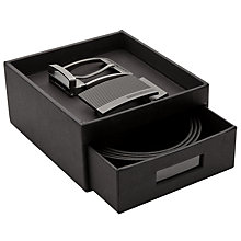 Buy BOSS Golias Reversible Belt and Buckles Gift Box, One Size, Black/Brown Online at johnlewis.com