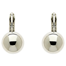 Buy Finesse Plated Ball Leverback Earrings Online at johnlewis.com