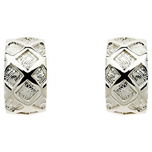 Buy Finesse Plated Criss Cross Brushed Earrings Online at johnlewis.com