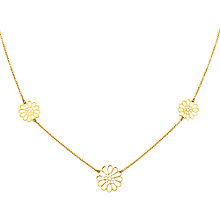 Buy Finesse Gold Plated Flower Trio Necklace Online at johnlewis.com