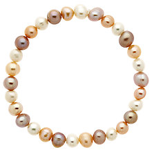 Buy Finesse Stretch Pearl Bracelet, White/Multi Online at johnlewis.com