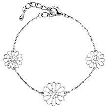 Buy Finesse Rhodium Plated Flower Bracelet Online at johnlewis.com