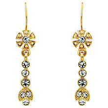 Buy Downton Abbey Gold Plated Crystal Drop Earrings, Gold Online at johnlewis.com