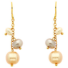 Buy Finesse Pearl Drop Earrings, Gold Online at johnlewis.com