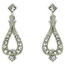 Buy Downton Abbey Silver Plated Crystal Teardrop Earrings, Silver Online at johnlewis.com
