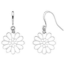 Buy Finesse Gold Plated Flower Hook Earrings Online at johnlewis.com