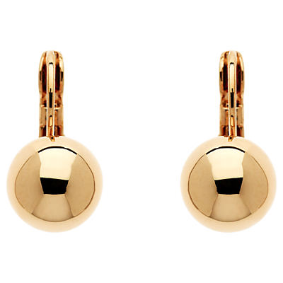 Finesse Ball Leverback Clip-On Earrings