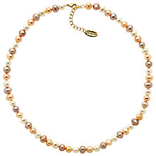 Buy Finesse Fresh Water Pearl Necklace, White/Multi Online at johnlewis.com