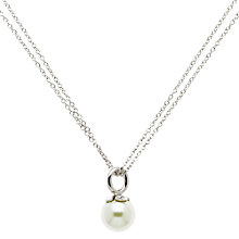 Buy Finesse Rhodium Plated Faux Pearl Pendant Necklace, Silver Online at johnlewis.com