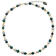 Buy Finesse Fresh Water Pearl Necklace, White/Blue Online at johnlewis.com