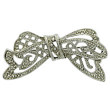 Buy Downton Abbey Silver Plated Bow Brooch, Silver Online at johnlewis.com