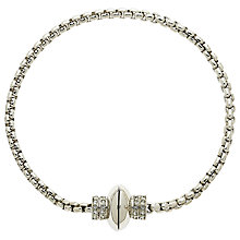 Buy Finesse Rhodium Plated Swarovski Crystal Bracelet, Silver Online at johnlewis.com