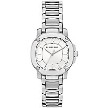 Buy Burberry BBY1703 Women's The Britain Stainless Steel Bracelet Strap Watch, Steel Online at johnlewis.com