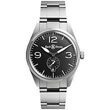 Buy Bell & Ross BRV123-BL-ST/SST  Men's Vintage Original Automatic Stainless Steel Bracelet Strap Watch, Silver Online at johnlewis.com