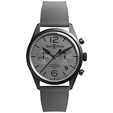 Buy Bell & Ross BRV126-Commando Men's Automatic Chronograph Rubber Strap Watch, Grey Online at johnlewis.com