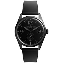 Buy Bell & Ross BRV123-Phantom Men's Vintage Original Automatic Rubber Strap Watch, Black Online at johnlewis.com