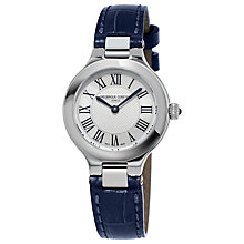 Buy Frédérique Constant FC-200M1ER36 Women's Classics Delight Leather Strap Watch, Black/Silver Online at johnlewis.com