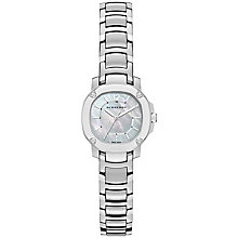 Buy Burberry BBY1901 Women's The Britain Mother of Pearl Stainless Steel Bracelet Strap Watch, Silver Online at johnlewis.com