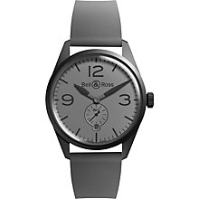 Buy Bell & Ross BRV123-Commando Men's Automatic Rubber Strap Watch, Grey Online at johnlewis.com