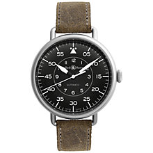 Buy Bell & Ross BRWW192-MIL/SCA Men's Leather Strap Watch, Brown/Black Online at johnlewis.com