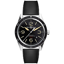 Buy Bell & Ross BRV123-ST-HER/SRB Men's Vintage Sports Heritage Rubber Strap Watch, Black Online at johnlewis.com