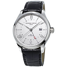 Buy Frédérique Constant FC-350S5B6 Men's Classics Index GMT Automatic Stainless Steel Leather Strap Watch, Black Online at johnlewis.com