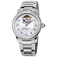 Buy Frédérique Constant FC-310HBAD2PD6B Women's Heart Beat Diamond Automatic Stainless Steel Bracelet Watch, Silver Online at johnlewis.com