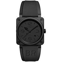 Buy Bell & Ross BR0392-Phantom-CE Men's Ceramic Automatic Rubber Strap Watch, Black Online at johnlewis.com