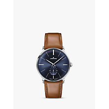 Buy Junghans 027/3504.00 Men's Leather Strap Watch, Tan Online at johnlewis.com