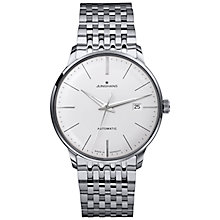 Buy Junghans 027/4311.44 Men's Meister Classic Self-Winding Stainless Steel Bracelet Strap Watch, Silver Online at johnlewis.com
