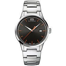 Buy 88 Rue Du Rhone 87WA154103 Men's Rive Stainless Steel Bracelet Strap Watch, Silver/Black Online at johnlewis.com