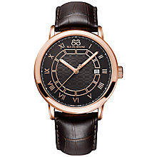 Buy 88 Rue Du Rhone 87WA144205 Double 8 Origin Rose Gold Plated Leather Strap Watch, Brown Online at johnlewis.com