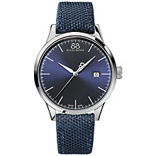 Buy 88 Rue Du Rhone 87WA154107 Men's Rive Nato Fabric Strap Watch, Navy Online at johnlewis.com