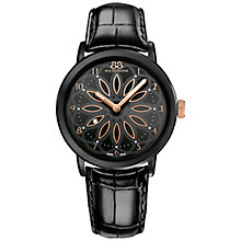 Buy 88 Rue Du Rhone 87WA143501 Women's Double 8 Origin Stainless Steel Leather Strap Watch, Black Online at johnlewis.com