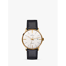 Buy Junghans 027/7312.00 Men's Meister Classic Self-Winding Stainless Steel Leather Strap Watch, Black Online at johnlewis.com