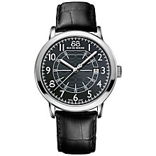 Buy 88 Rue Du Rhone 87WA144210 Men's Double 8 Origin Stainless Steel Leather Strap Watch, Black Online at johnlewis.com