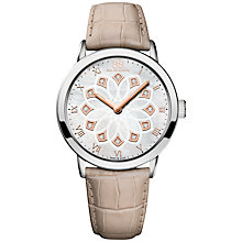 Buy 88 Rue Du Rhone 87WA143502 Women's Double 8 Origin Leather Strap Watch, Cream/White Online at johnlewis.com