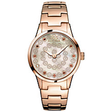 Buy 88 Rue Du Rhone 87WA153202 Women's Rive Smoky Quartz and Diamond Filigree Dial Bracelet Strap Watch, Rose Gold/Mother of Pearl Online at johnlewis.com