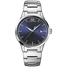 Buy 88 Rue Du Rhone 87WA154106 Men's Rive Stainless Steel Bracelet Strap Watch, Silver/Blue Online at johnlewis.com