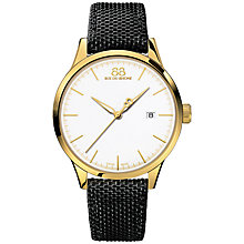 Buy 88 Rue Du Rhone 87WA154110 Men's Rive Nato Fabric Strap Watch, Black/White Online at johnlewis.com