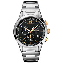 Buy 88 Rue Du Rhone 87WA154303 Men's Rive Chronograph Stainless Steel Bracelet Strap Watch, Silver/Black Online at johnlewis.com