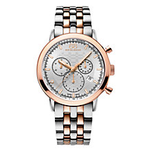 Buy 88 Rue Du Rhone 87WA154204 Men's Double 8 Origin Stainless Steel Rose Gold Bracelet Watch, Silver Online at johnlewis.com