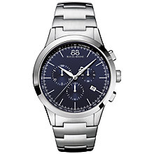 Buy 88 Rue Du Rhone 87WA154305 Men's Rive Chronograph Stainless Steel Bracelet Strap Watch, Silver/Blue Online at johnlewis.com