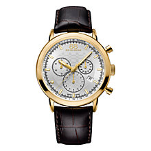 Buy 88 Rue Du Rhone 87WA154206 Men's Double 8 Origin Chronograph Leather Strap Watch, Brown/Gold Online at johnlewis.com
