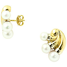 Buy Turner & Leveridge 1993 18ct Gold Cultured Pearl Stud Earrings, Gold Online at johnlewis.com