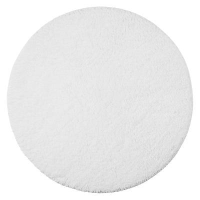 John Lewis Supreme Reversible Round Bath Mat, White